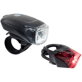 Cube RFR Tour 35 Cykellygter sæt USB, black
